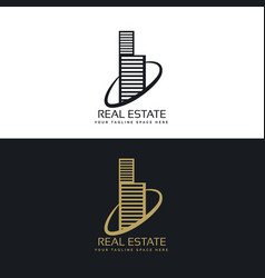Real estate building business logo concept design vector