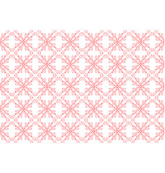 Red ornament on a white background for embr vector