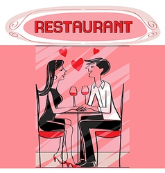 restaurant lovers vector image