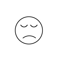Sadeness emoticon vector