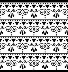 Scandinavian style folk seamless pattern vector