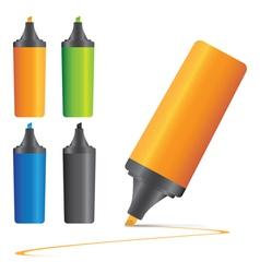set highlighter pen marker s vector image