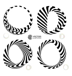 Set of black and white 3d vector