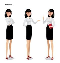Set of businesswomen on white background vector image