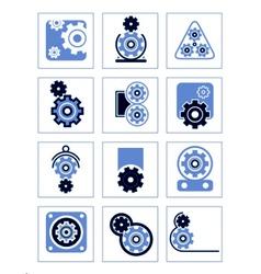 set symbols gear vector image