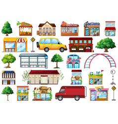 set urban shop vector image