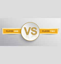 Signboard for vs duel vector