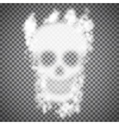 Smoke Skull vector image