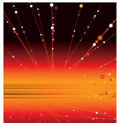 space glow vector image