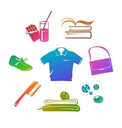 Sport wear and accessories Gradient fill vector image