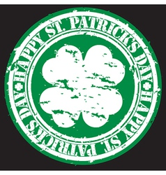 st patricks day stamp vector image