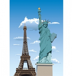 statue of liberty in Paris vector image