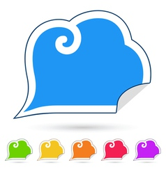 Stickers speech bubbles vector image