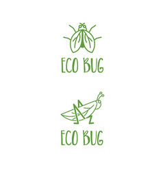 template icon grasshopper and fly vector image