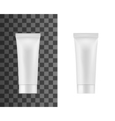 Tube package white plastic cosmetic cream vector