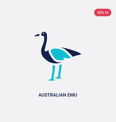 two color australian emu icon from culture vector image