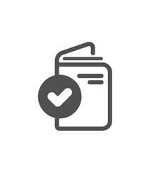 Verification document icon accepted passport sign vector
