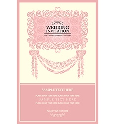 Vintage background wedding invitation vector image