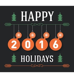 Vintage Happy holidays postcard holiday poster vector