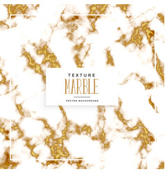 white and gold marble texture background vector image