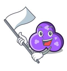 With flag trefoil mascot cartoon style vector