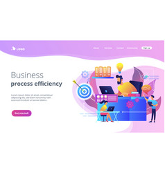 Workflow concept landing page vector