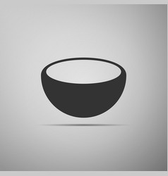 bowl icon isolated on grey background vector image