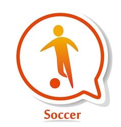SoccerB vector image vector image