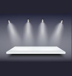 white presentation platform vector image