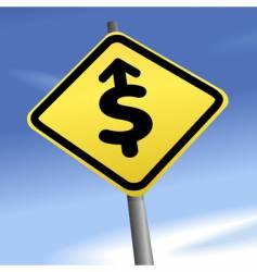 arrow dollar sign vector image vector image