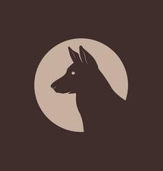 german shepherd head silhouette logo vector image