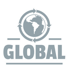 global logo simple gray style vector image vector image