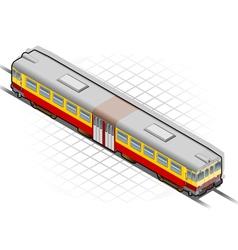 isometric electric train vector image
