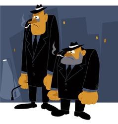 Mafia never sleeps vector image vector image