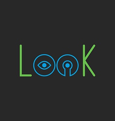 Mockup lock logo design thin line graphic template vector image
