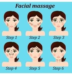 original trendy girl facial massage set vector image vector image