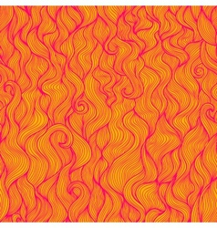 Wavy abstract seamless pattern in pink and orange vector image vector image