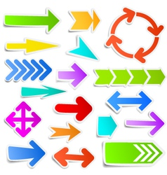 Colourful arrow stickers vector image