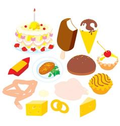 Foodstuffs vector image vector image