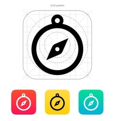 Hand compass icon vector
