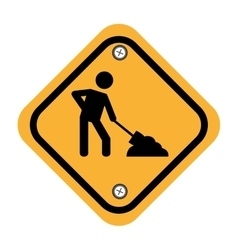 rhombus security yellow sign vector image