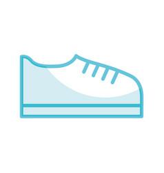shadow shoe cartoon vector image vector image