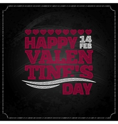 valentines day chalkboard design background vector image
