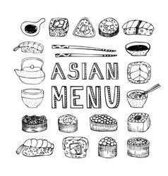 Asian menu vector image
