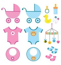 Baby elements set vector