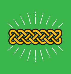 celtic infinity kot design vector image