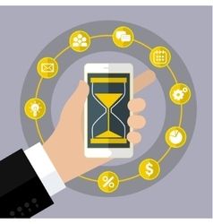 Concept of effective time management vector image vector image