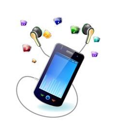 mobile music vector image