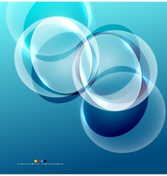 Shiny flowing abstraction vector image