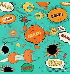 template vintage comic speech bubbles vector image vector image